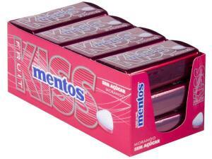 [R$ 48M.pay + C. Ouro] Pastilhas Mentos Kiss Morango sem açúcar 420 g - Display | R$68