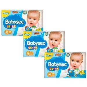Fralda Babysec UltraSec Galinha Pintadinha M - Kit com 132 Unidades | R$66