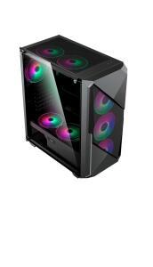 (APP/AME R$ 254.78) Gabinete Gamer Preto Gamemax Revolt 3606 Argb Vidro | R$ 275