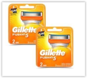 Kit 4 Cargas Gillette Fusion 5 | R$ 42