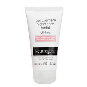 Gel Creme Hidratante Facial Oil Free Para Pele Mista a Oleosa, Neutrogena, 50ml | R$35