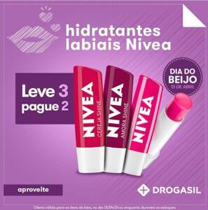 Hidratante Labial Nivea - Leve 3 pague 2   R$12 (cada)