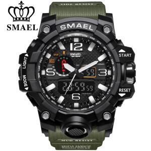 Smael relógio masculino esporte display analógico digital   R$58