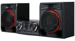 Mini System LG Bluetooth 950W CD Player FM - Karaokê USB XBOMM CL65 | R$1099