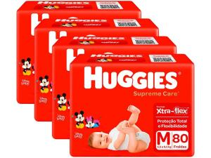 Fralda Huggies Supreme Care M 320 unidades   R$199