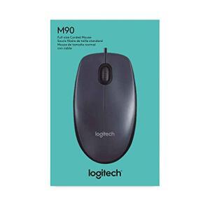 Mouse com fio USB Logitech M90 - Cinza | R$20