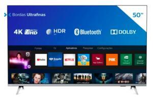 [REEMBALADO] Smart TV LED 50'' Philips 50PUG6654/78 Ultra HD 4k | R$1.749
