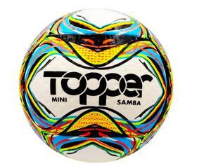 Mini Bola de Futebol de Campo Topper Samba Amador - Colorida | R$34