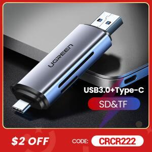 Leitor de Cartões UGREEN USB 3.0, tipo C Porta Dupla | R$69