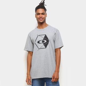 Camiseta Oakley Hex Masculina - Cinza Claro | R$25
