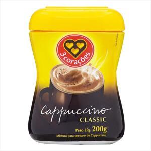 Cappuccino Classic 3 CORAÇÕES Pote 200g (Leve 2 pague 1) | R$4,75