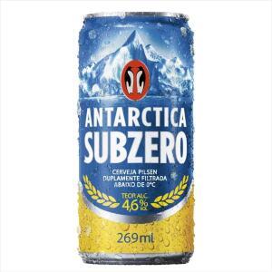 Cerveja ANTARCTICA Sub Zero Lata 269ml (a partir de 15 unid) | R$1,69