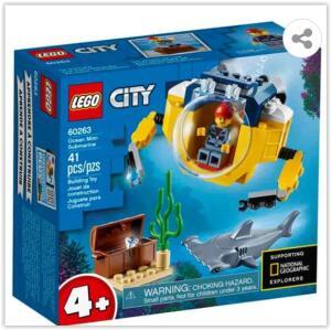 LEGO City Mini-submarino Oceânico 60263 – 41 Peças | R$ 57