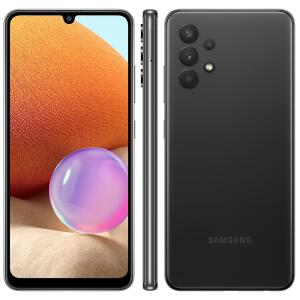Smartphone Samsung Galaxy A32 Preto 128GB + Bateria Externa carga rápida 10.000mAh | R$1349