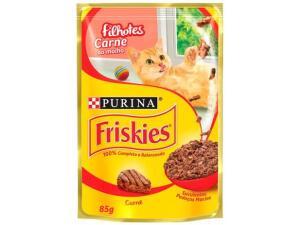 [Cliente Ouro + Magalu Pay R$0,68] Ração úmida para gatos filhotes - Friskies Carne ao molho - 85g | R$2