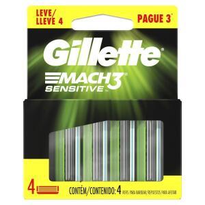 Carga para Aparelho de Barbear Gillette Mach3 leve 4 pague 3 | R$39