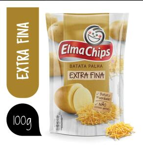 Batata Palha Extrafina Elma Chips Pacote 100g   R$2,38