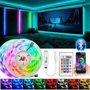 [PRIMEIRA COMPRA] Fita de LED RGB 5050 20M Full Set Com BLuetooth | R$93