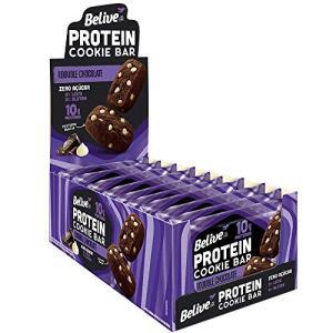 Cookie Bar Protein Double Chocolate Belive 40g | 10 und | R$35