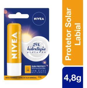 Protetor Labial Sun Protect Fps30 Nivea 4,8g | R$9