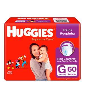 3 Pacotes Fralda Huggies Roupinha Supreme Care G 60 | R$105