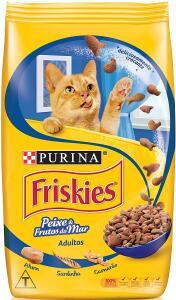 [PRIME] Ração Purina, Friskies Petiscos do Mar para Gatos Adultos Sabor Peixe e Frutos do Mar, 1kg | R$12