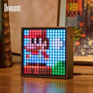 Caixa de som com Despertador e Pixel Art Divoom | R$275