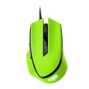 Mouse Gamer Sharkoon Shark Force 6 Botões 1600 DPI 4000 FPS Óptico Verde | R$52