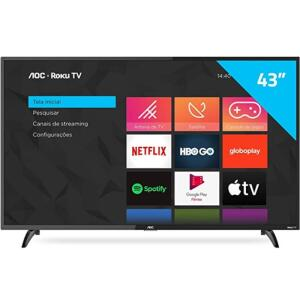 Smart TV AOC 43 42S5195 78G Roku LED Full HD Wi-Fi HDMI USB 2.0 | R$1619