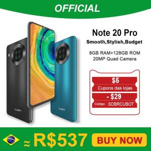 Smartphone Cubot Note 20 Pro 8GB 128GB | SOMENTE 21h | R$537