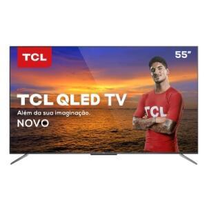 """TV QLED 55"""" TCL Smart TV C715 QLED 4K Design sem Bordas"""