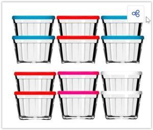 Tigela de Vidro Americano 4210 150ml 12 Peças Cores Sortidas - Nadir | R$ 30