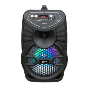 Caixa Amplificada Lenoxx, Alto-Falantes com Leds, Rádio FM, Bivolt - CA100 | R$237