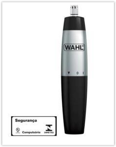 Aparador de Pelos Nasal Wahl Clipper Trmmer Prata à Pilha 5642-100 - Preto | R$ 24