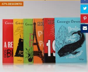 Kit com 6 livros de George Orwell - Ed. Tricaju | R$39