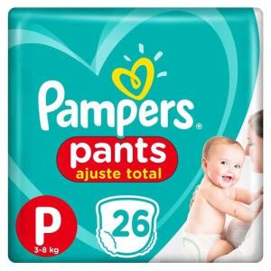 Pampers Pants Ajuste Total P - 104 Unidades | R$48