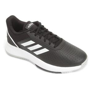 Tênis Adidas Courtsmash Masculino - Preto+Cinza   R$ 136