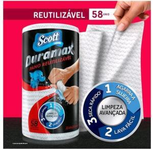 10 rolos de pano de limpeza Scott Duramax | R$ 8