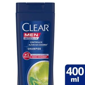 Shampoo Anticaspa Clear Men Controle e Alívio da Coceira 400ml | R$17