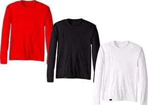 Kit com 3 Camisetas Proteção Solar Uv 50 Ice Tecido Gelado – Slim Fitness | R$100