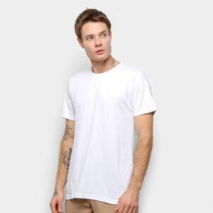 Camiseta Burn Basic Branca Masculina | R$12