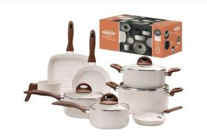 Jogo de Panelas Antiaderente Ceramic Life Smart Plus 8 peças - Brinox | R$585