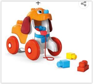 Mega Bloks Pull-Along Puppy GPW35 Fisher-Price -16 Peças | R$78