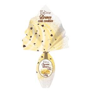 Ovo Chocolate Branco com Cookie 120g Delicce | R$6