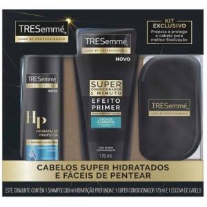 TRESEMME SHAMPOO HIDRATACAO PROFUNDA 200ML + SUPER CONDICIONADOR CACHOS + ESCOVA | R$15