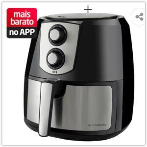Fritadeira Sem Óleo Philco Air Fryer Jumbo Inox PFR06PI 5,5L – Preto/Inox | R$ 467