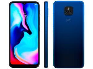 "Smartphone Motorola Moto E7 Plus 64GB Azul Navy - 4G Octa-Core 4GB RAM 6,5"" Câm. Dupla + Selfie 8MP | R$ 932,00"