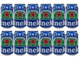 [Cliente ouro] Cerveja Heineken 0.0 Pilsen Lager sem Álcool - 12 Unidades 350ml