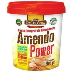 Pasta de Amendoim Amendo Power (500g) DaColônia | R$10