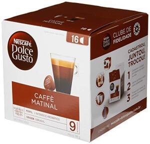 [Prime + recorrência] Nescafe Dolce Gusto, Caffe Matinal, 16 Cápsulas | R$16